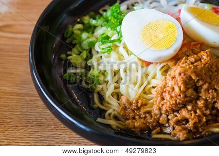 Noodle With Spicy Ground Pork Sauce