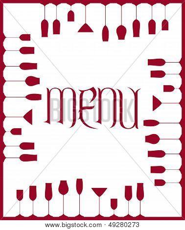 Bar menu background