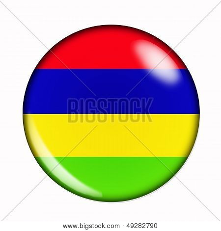 Button Flag Of Mauritius