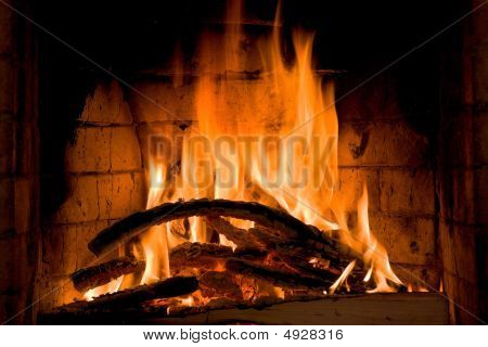 Fireplace Close Up