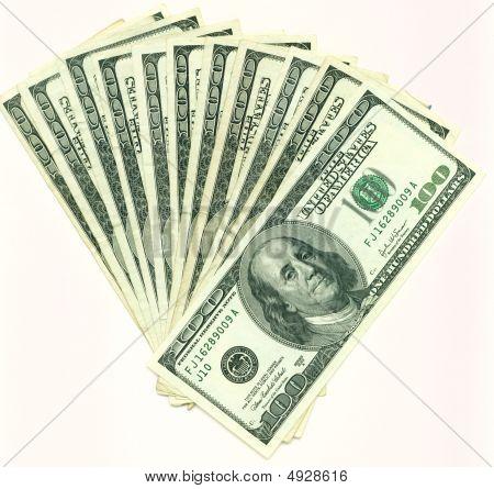 Fan Hundred Dollar Bills