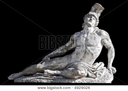 Wounded Achilles statue
