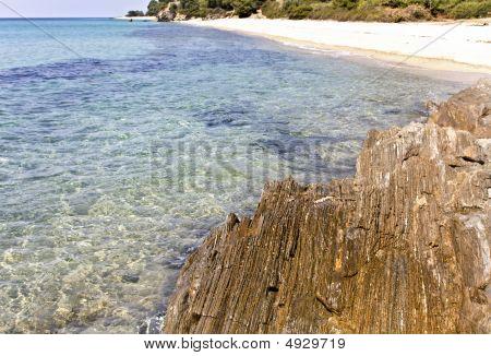 Rocky Beach At Chalkidiki, Greece (kalogria Area)