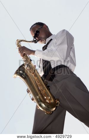 African American Jazz Music Player