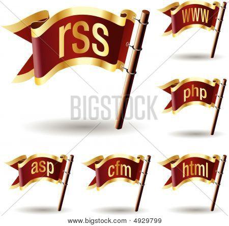 Web File Extension Icon Set