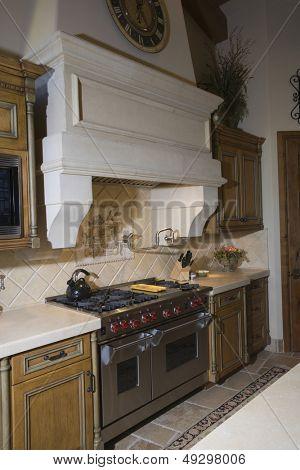 Kitchen interior with original architectural feature