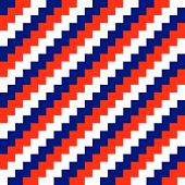 Diagonal red blue and white seamless striped background (vector) poster