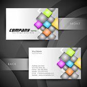 Professional and designer business card set or visiting card set.   poster