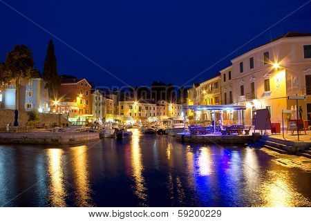 Town Of Veli Losinj Waterfront Evening