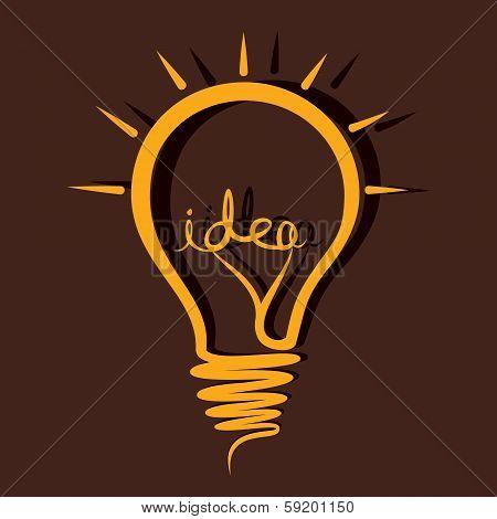 sketch idea bulb