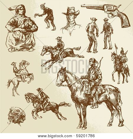 wild west - hand drawn collection