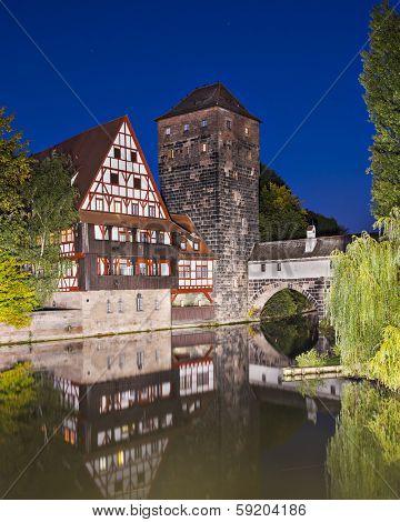 Nuremberg, Germany at Executioner's Bridge.