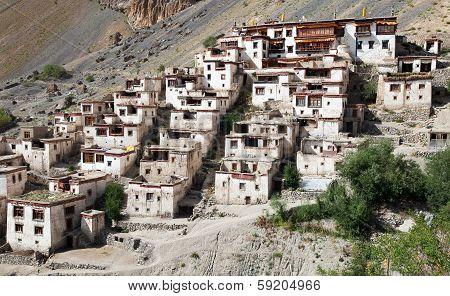 Lingshed (lingshet, Lingshot) Gompa - Buddhist Monastery In Zanskar Valley - Ladakh - Jamu And Kashm