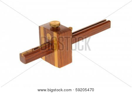carpenters mortice marking gauge isolated on white