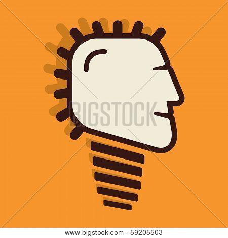 creative bulb face design