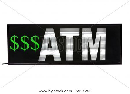 Automatic Teller Machine sign