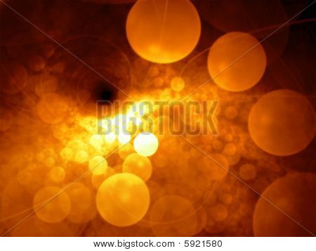 Golden Bubbles - Fractal Illustration
