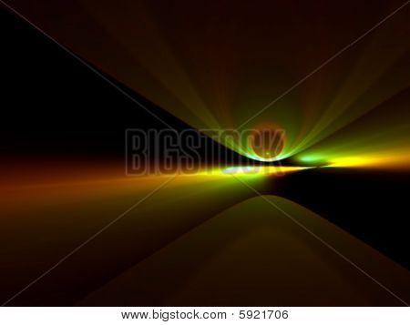 Comet Incoming - 3D Fractal Illustration