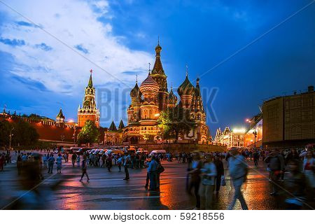 St. Basil Cathedral in Red Square, Moscow, Russia
