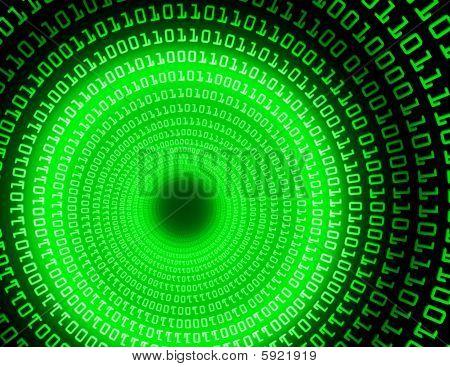Binary Tunnel - fractal illustration