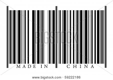 China Bar code isolated on white background