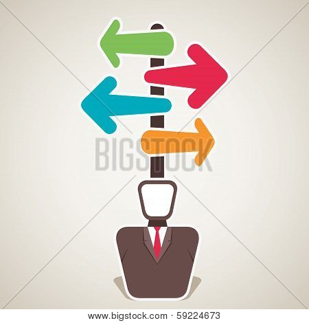 businessmen confuse about right direction