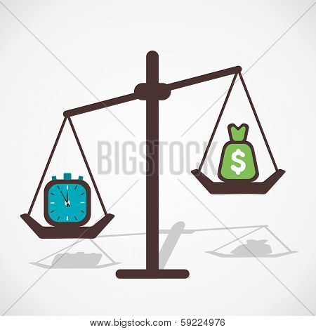 time is more important than money vector