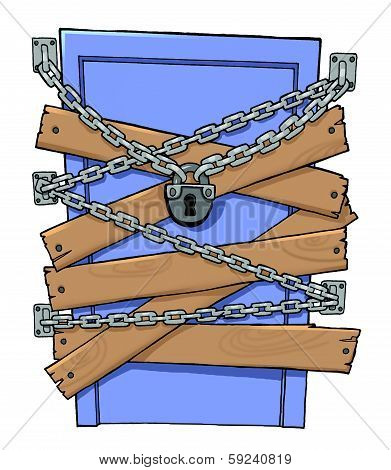 A Chain On A Closed Door