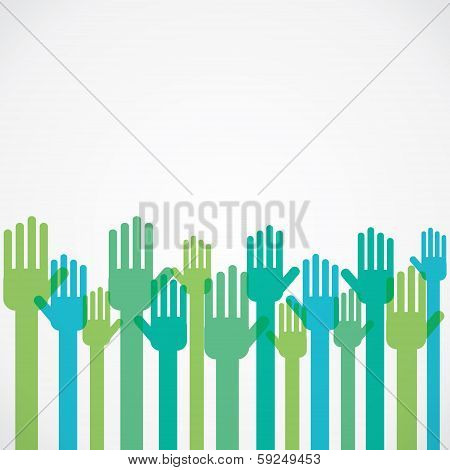 colorful hand background vector