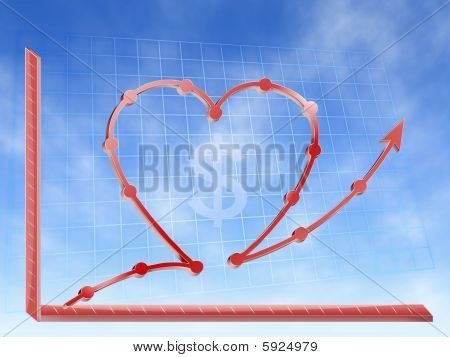 success in busines love money graphic