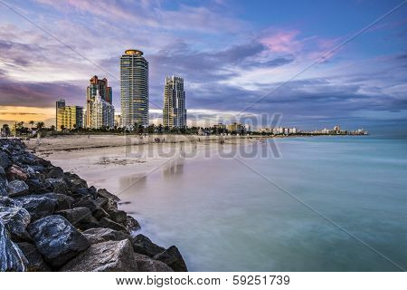 Miami, Florida at South Beach.