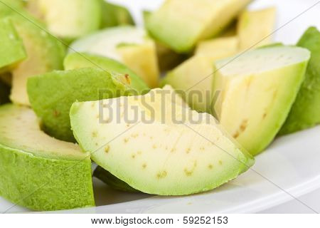 Cutted Avacado On Plate