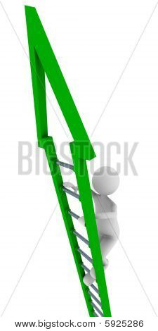 Green ladder of success