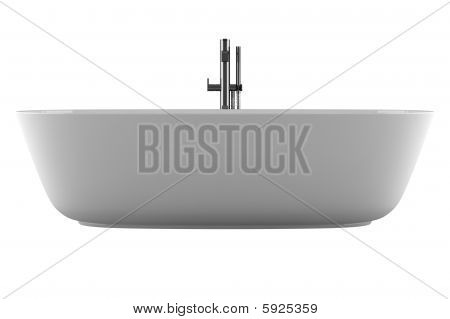 bathtub isolated on white background with clipping path