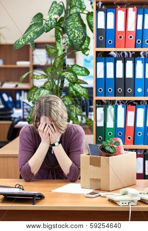 Layoff At Work, Employee Upset With Things To Take Away