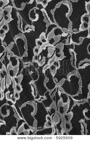 sexy black and white lace on black background for texture