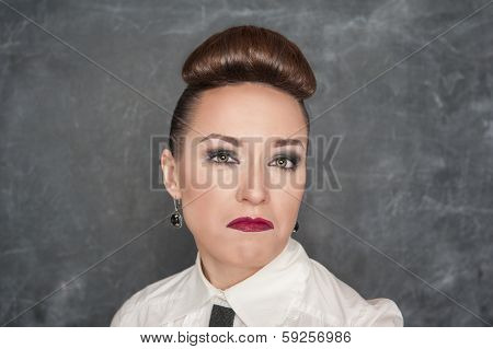 Woman With A Disdainful Expression
