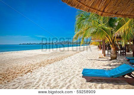 Beautiful tropical Sokha beach in Sihanoukville, Cambodia .