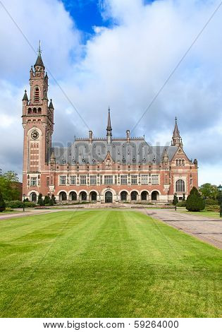 International court of justice in Hague, Netherlands