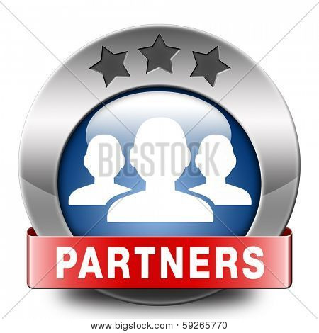 Partners icon our business partnership and cooperation group in team work