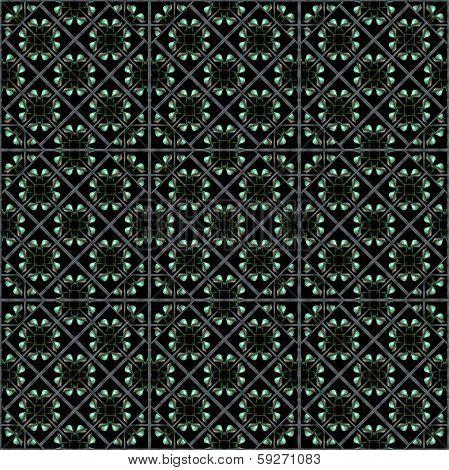 Diamonds Flowers Pattern.