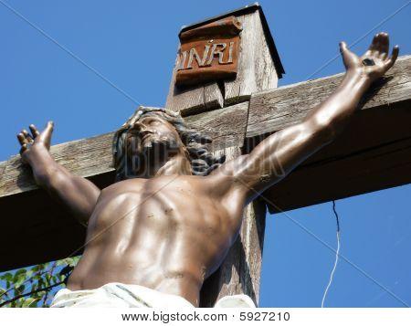 Jesus on a wood cross