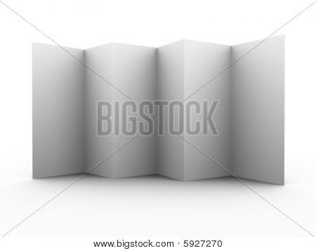 Multiple folded 3d leaflet