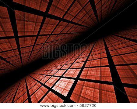 Virtual Grid Landscape - fractal illustration