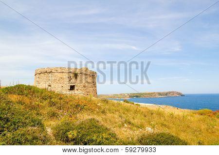 Torre d??en Penjat uncared fort scenery at Menorca, Spain
