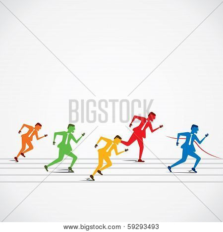 businessmen business race
