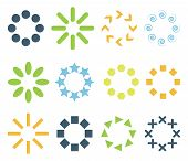 nine colored circular signs. vector set. eps8 poster