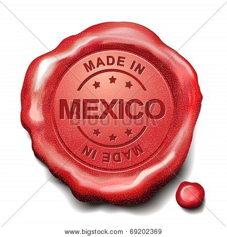 Made In Mexico Red Wax Seal
