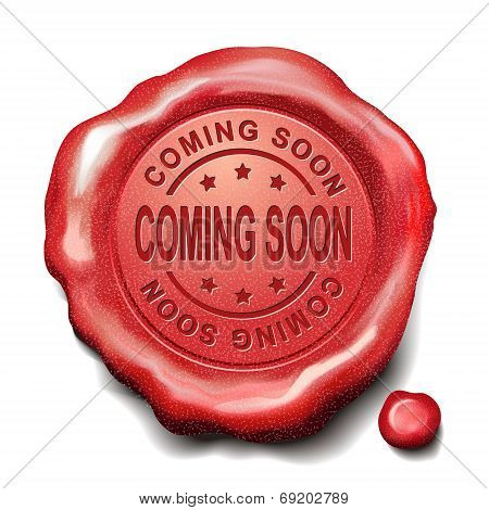 Coming Soon Red Wax Seal