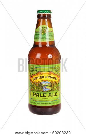 Hayward, CA - July 27, 2014: Bottle of Sierra Nevada Pale ale, brewed by the Sierra Nevada Brewing Company, Chico, CA